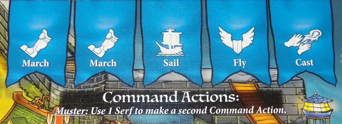 Heroes of Land, Air & Sea command actions