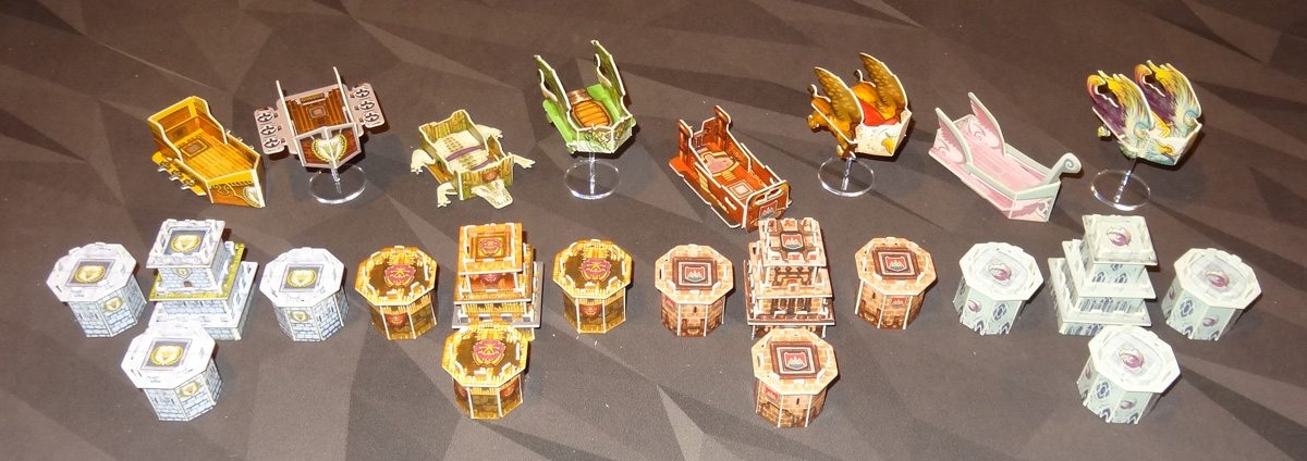 Heroes of Land, Air & Sea assembled constructs