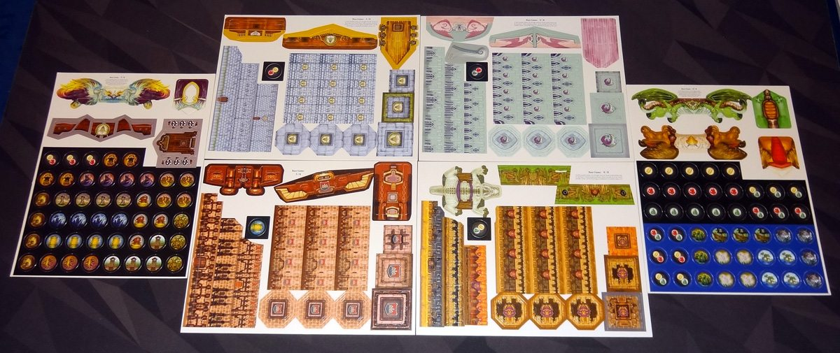 Heroes of Land, Air & Sea unpunched cardboard