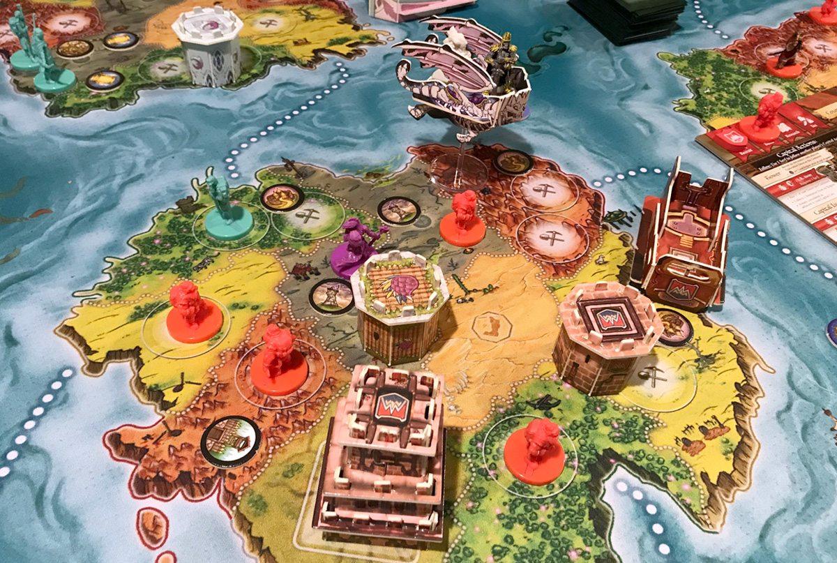 Heroes of Land, Air & Sea game in progress