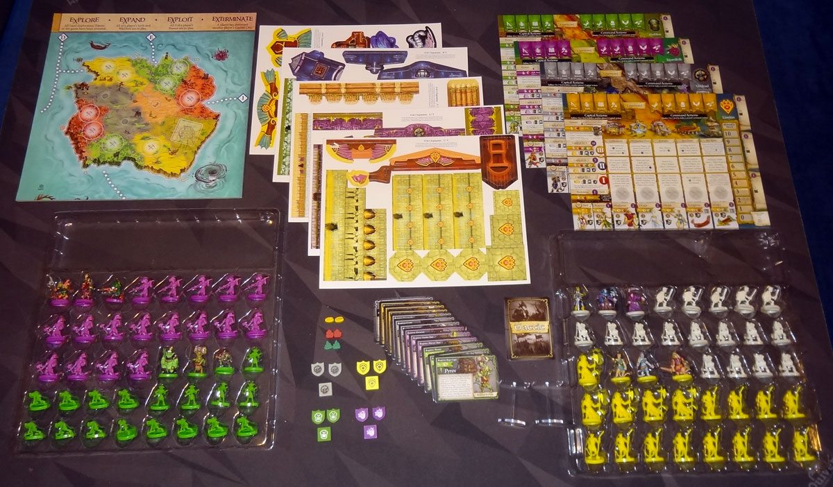 Heroes of Land, Air & Sea: Order & Chaos expansion components