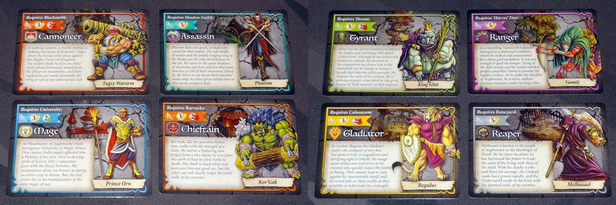 Heroes of Land, Air & Sea hero cards