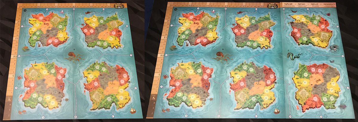 Heroes of Land, Air & Sea map boards