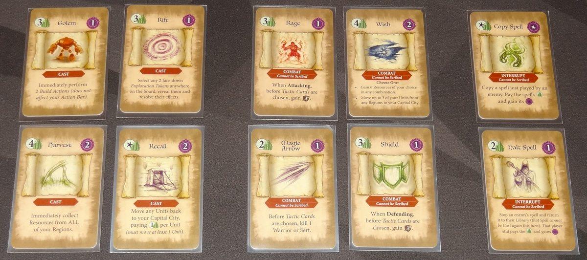 Heroes of Land, Air & Sea spell cards