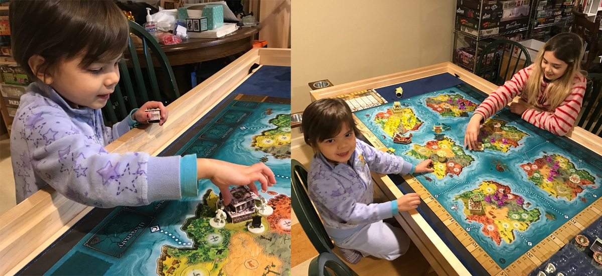 Kids playing with Heroes of Land, Air & Sea