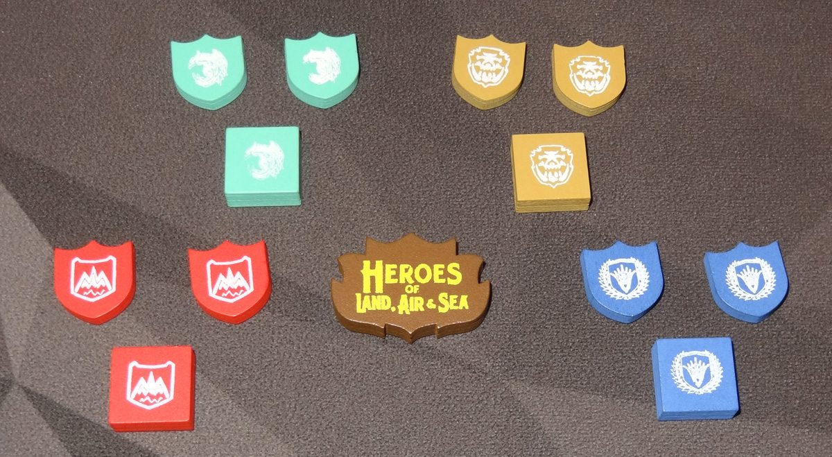 Heroes of Land, Air & Sea wooden components