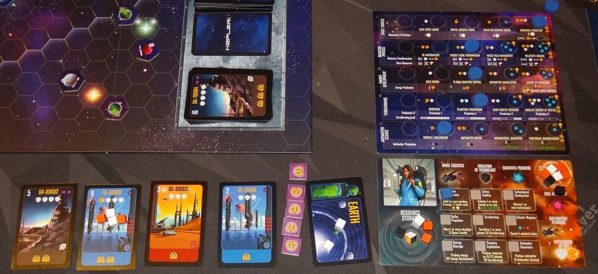 Kepler 3042 blue player at end of game