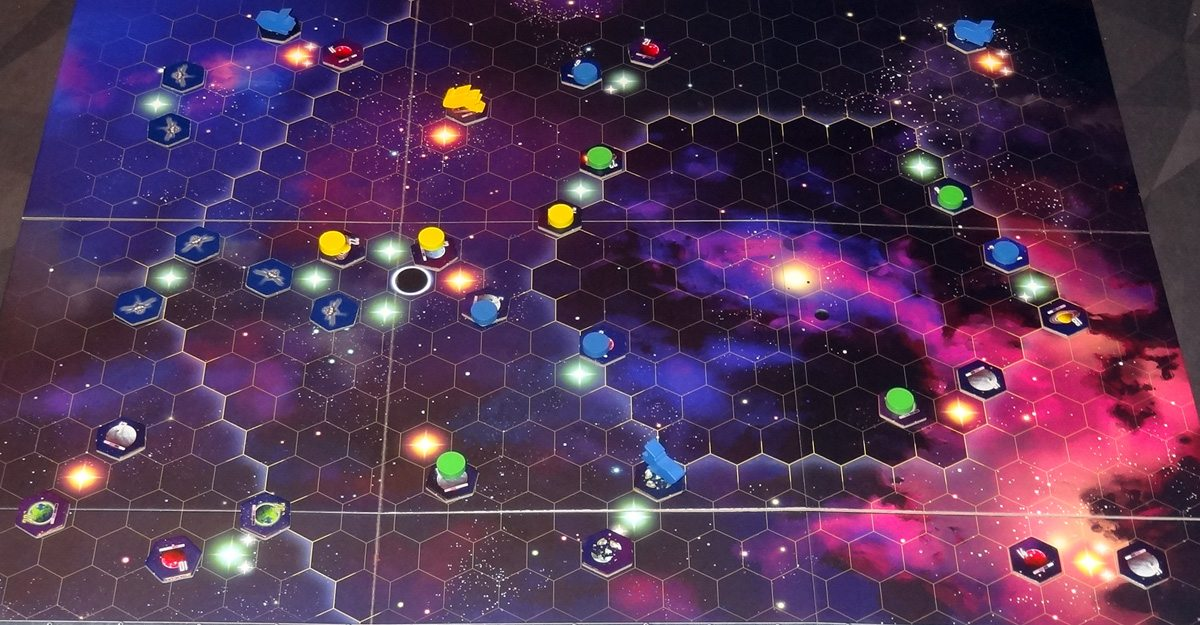 Kepler 3042 game board at end of game