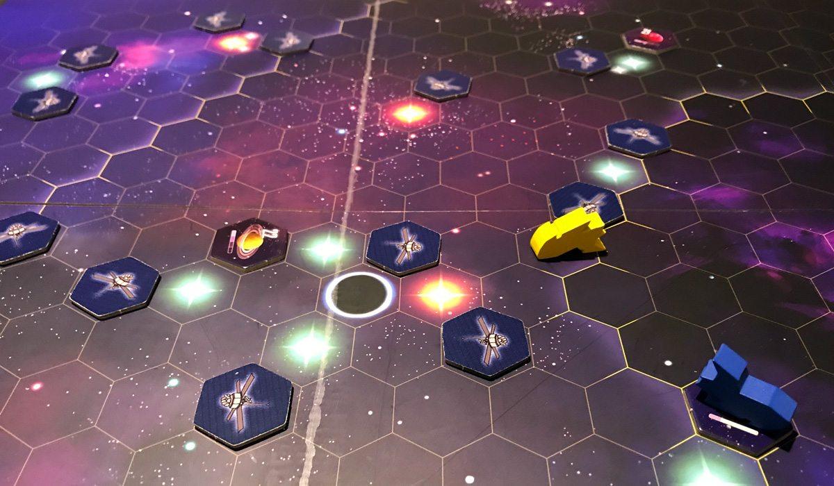 Kepler 3042 starship on game board