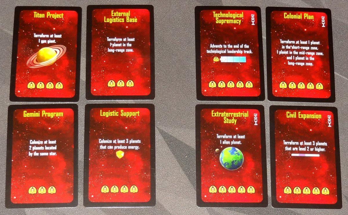 Kepler 3042 objective cards