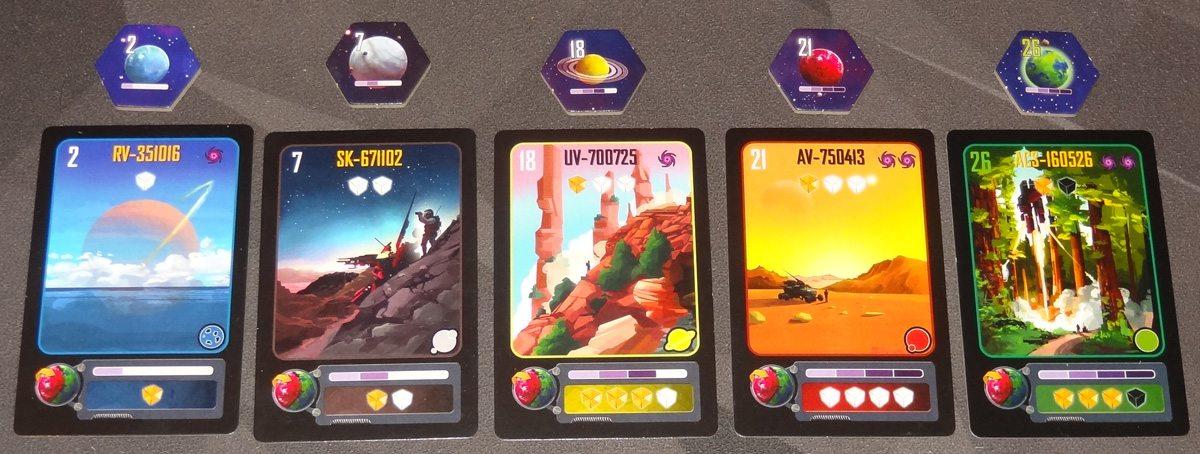 Kepler 3042 planet tiles and cards