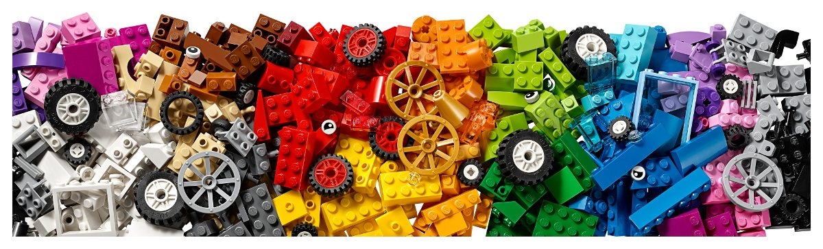 LEGO Bricks on a Roll pieces
