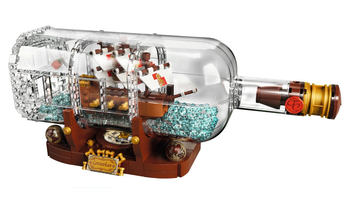 LEGO Ship in a Bottle Leviathan Display