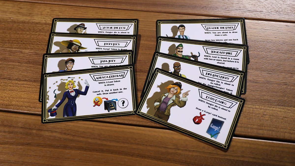 Mansky Caper character cards