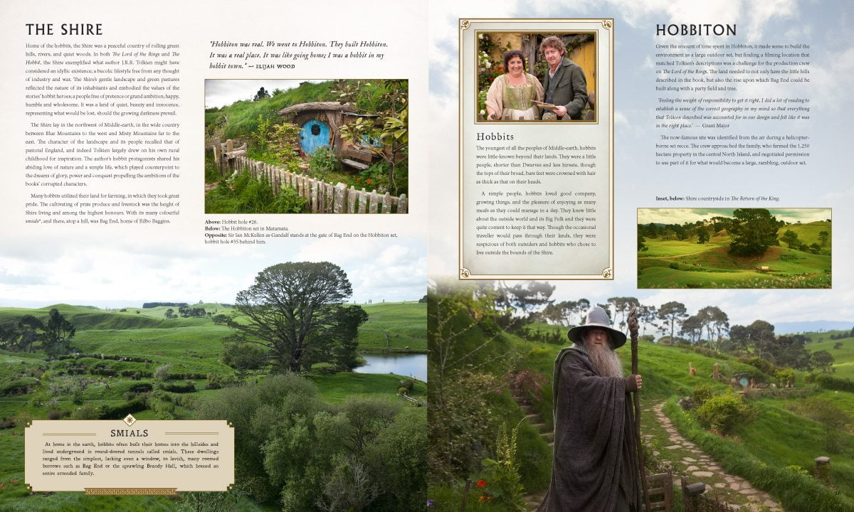Middle-Earth sample spread: The Shire