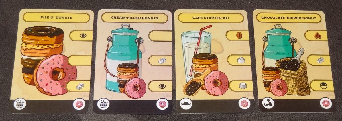 Seize the Bean donut product cards
