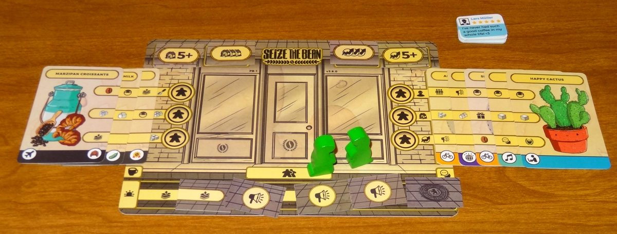 Seize the Bean player board with products and upgrades