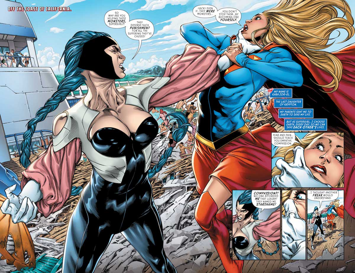 Supergirl #17 splash page