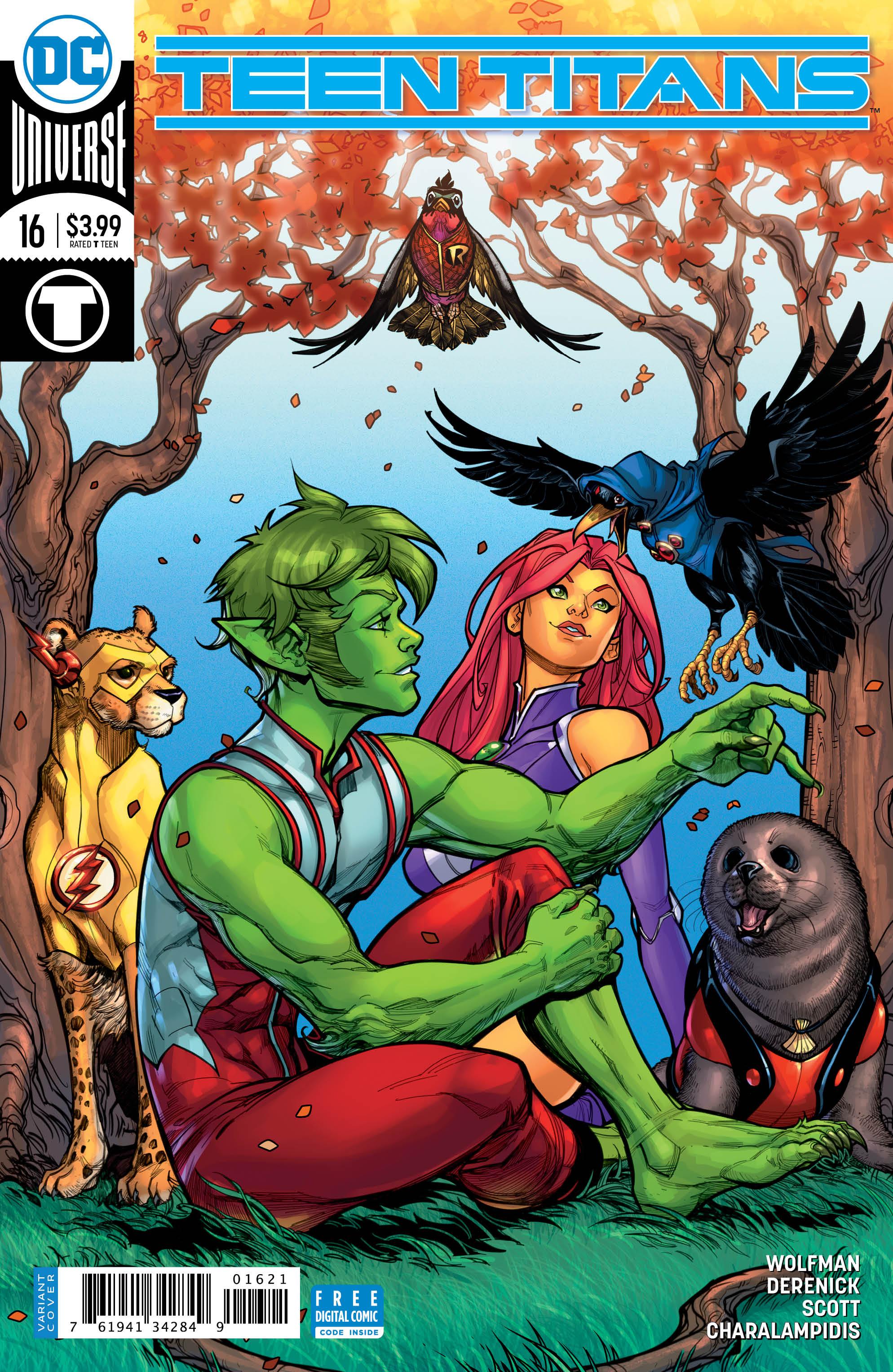 Teen Titans #16 cover
