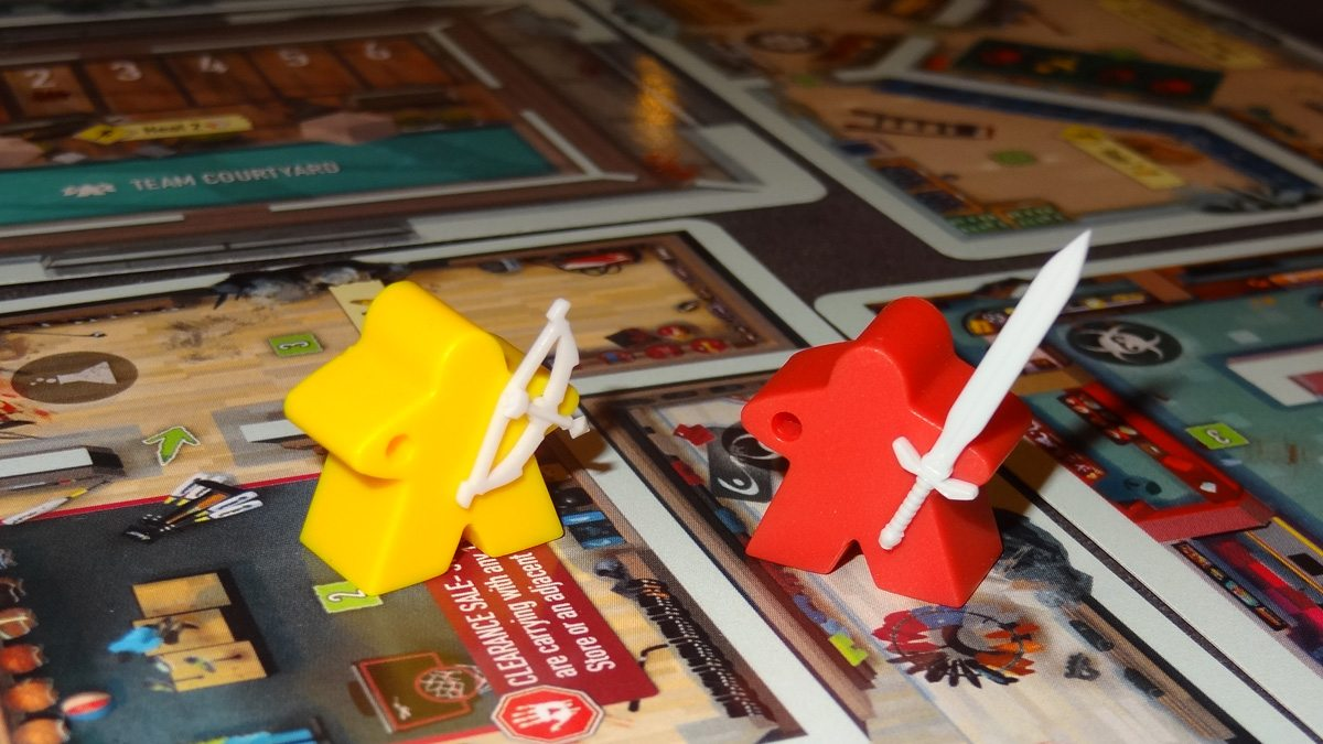 Tiny Epic Zombies ITEMeeples with items