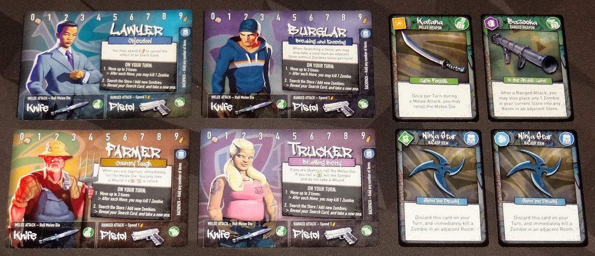 Tiny Epic Zombies deluxe components