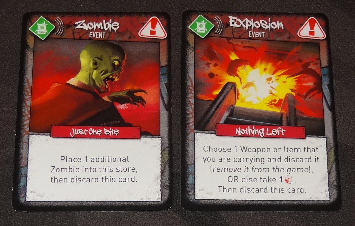 Tiny Epic Zombies event cards