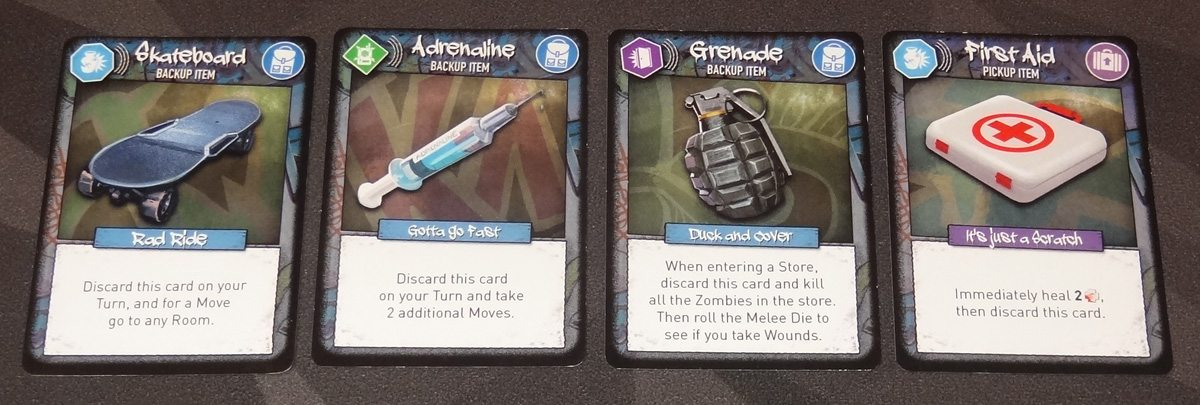 Tiny Epic Zombies item cards