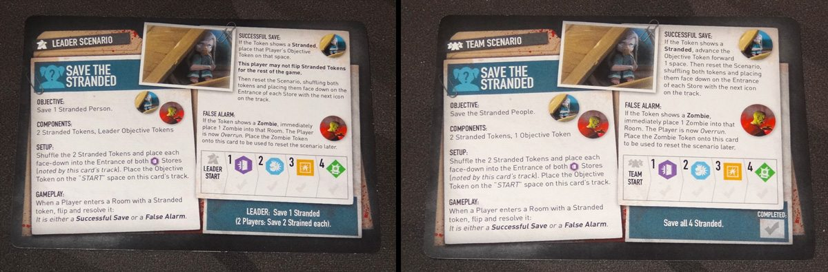 Tiny Epic Zombies Save the Stranded scenario card