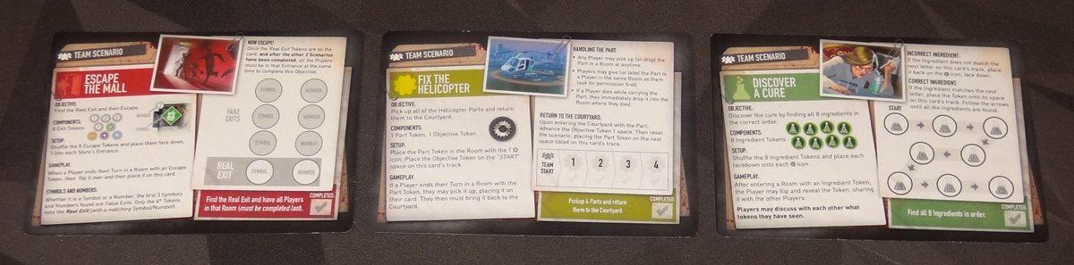 Tiny Epic Zombies scenario cards