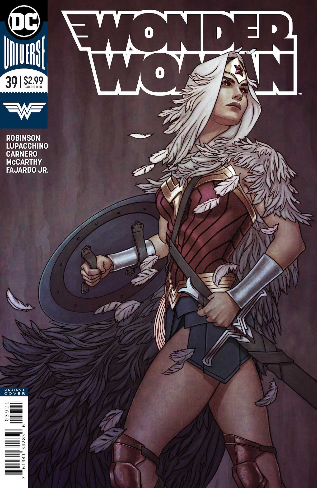 Wonder Woman #39 Jenny Frison variant cover