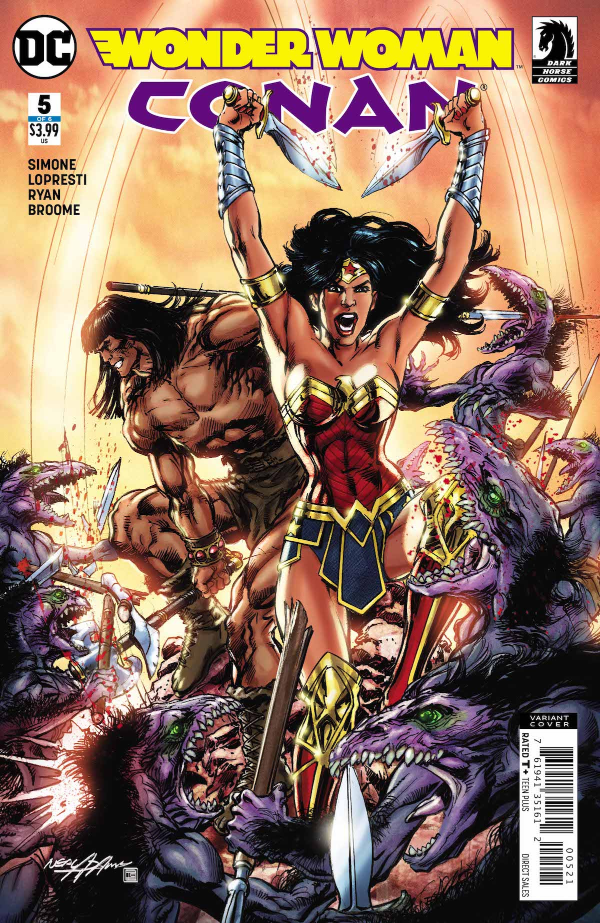 Wonder Woman/Conan #5 variant cover