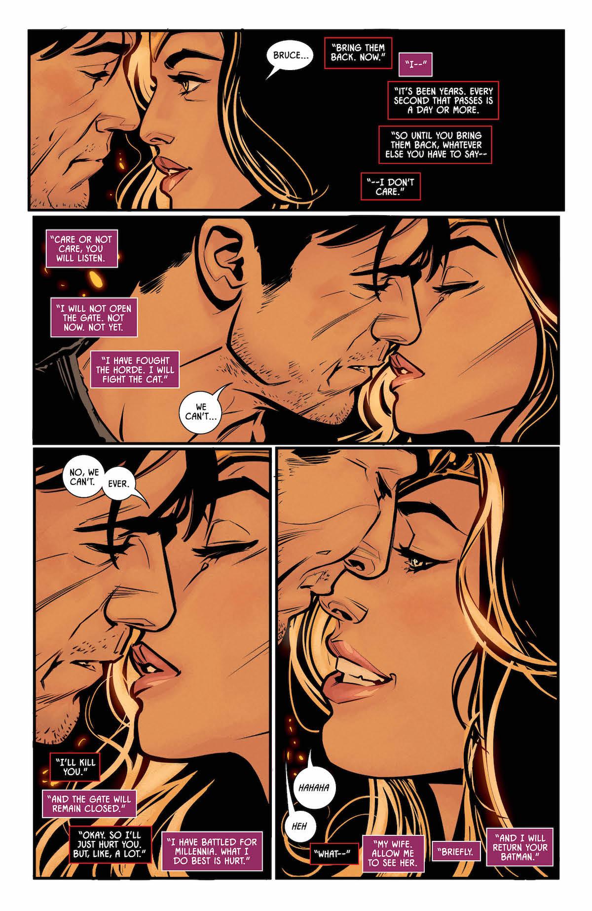 Batman #40 page 4 Wonder Woman and Bruce