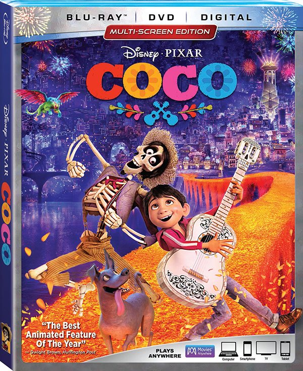 Coco Blu-ray DVD box art
