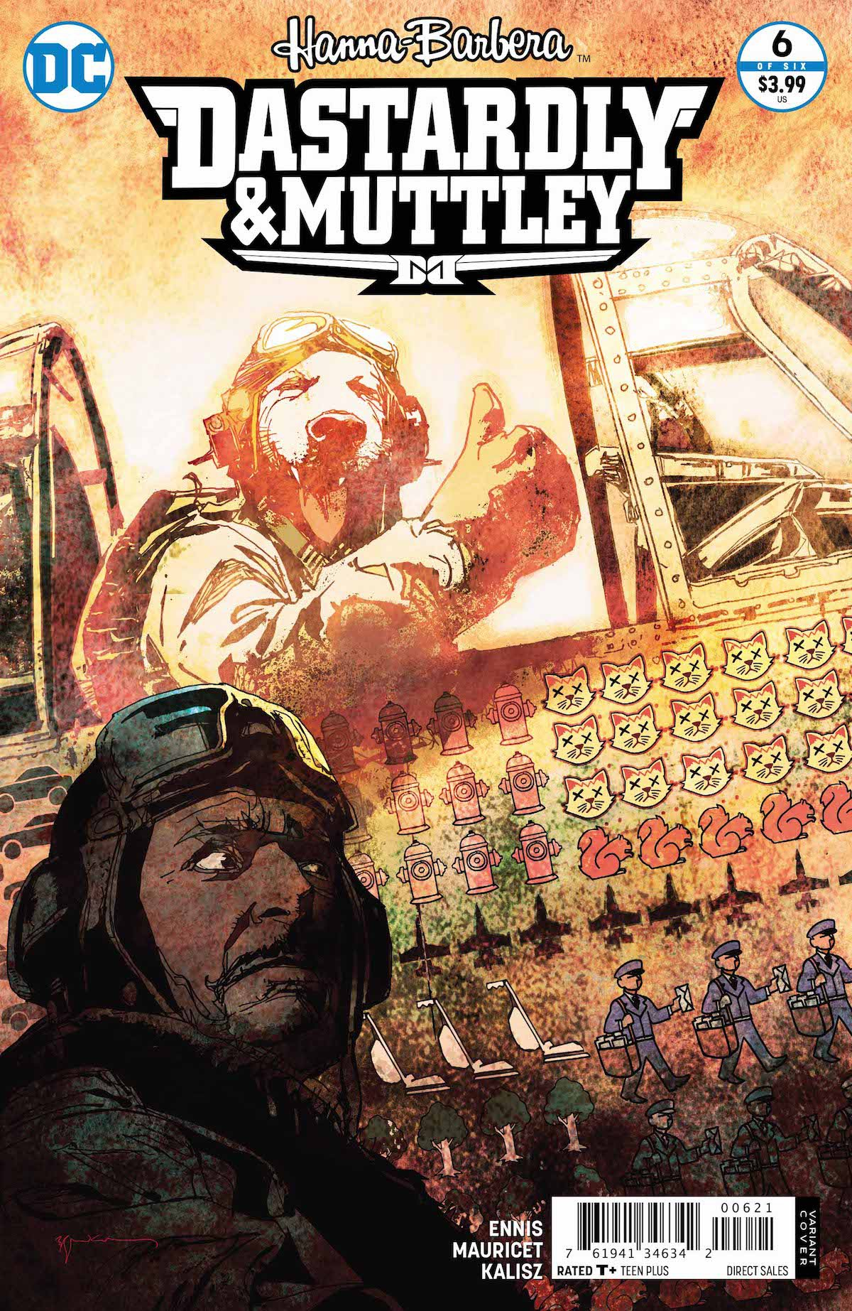 Dastardly and Muttley #6 variant cover