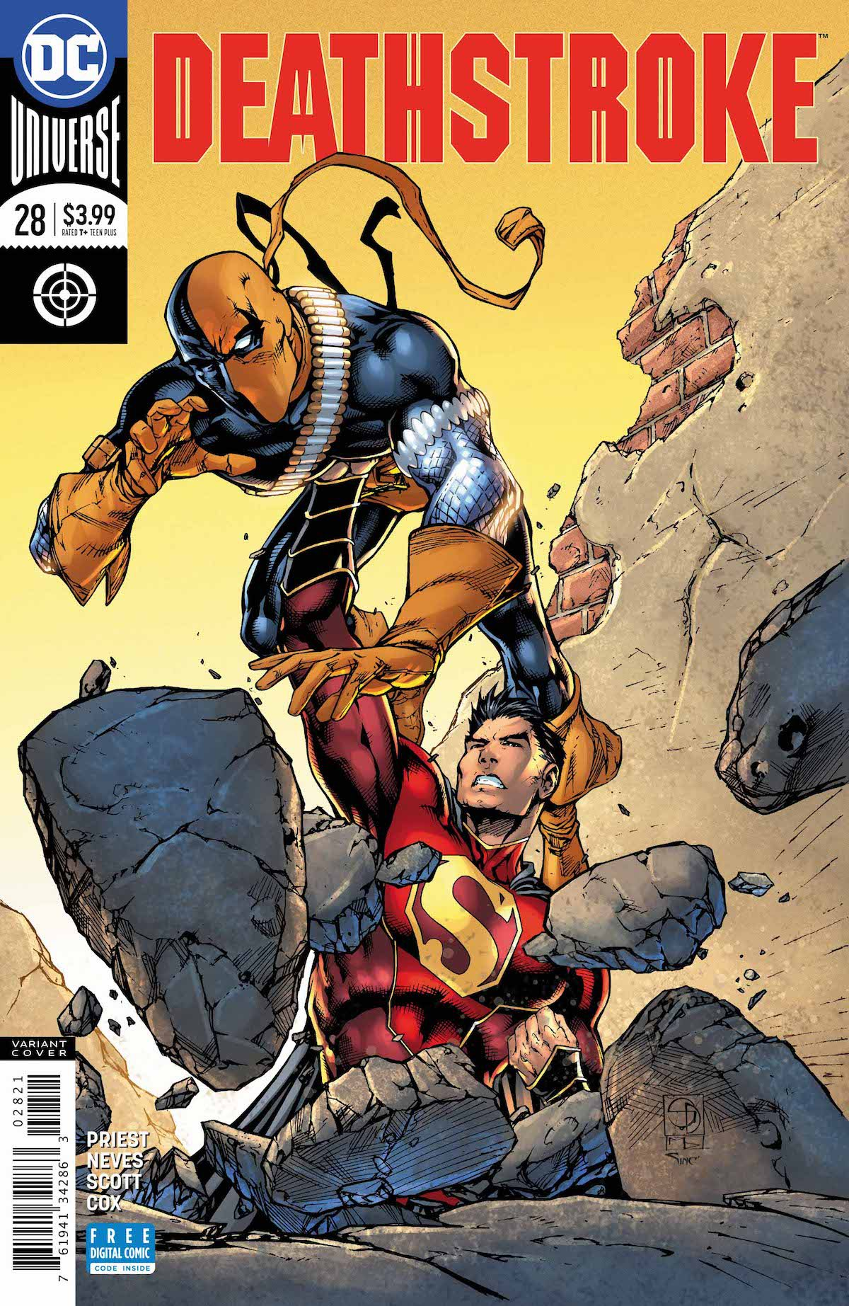 Deathstroke #28 variant cover
