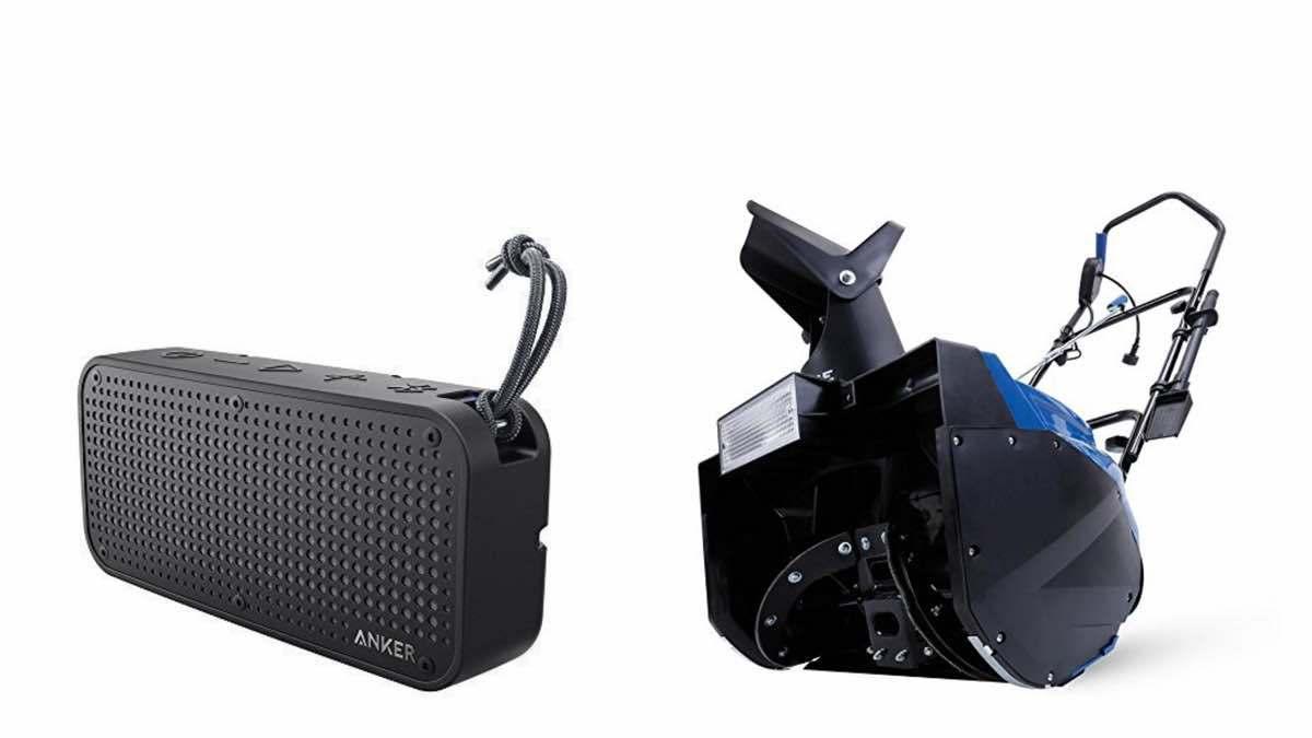 Geek Daily Deals 020118 bluetooth speakers snow blower
