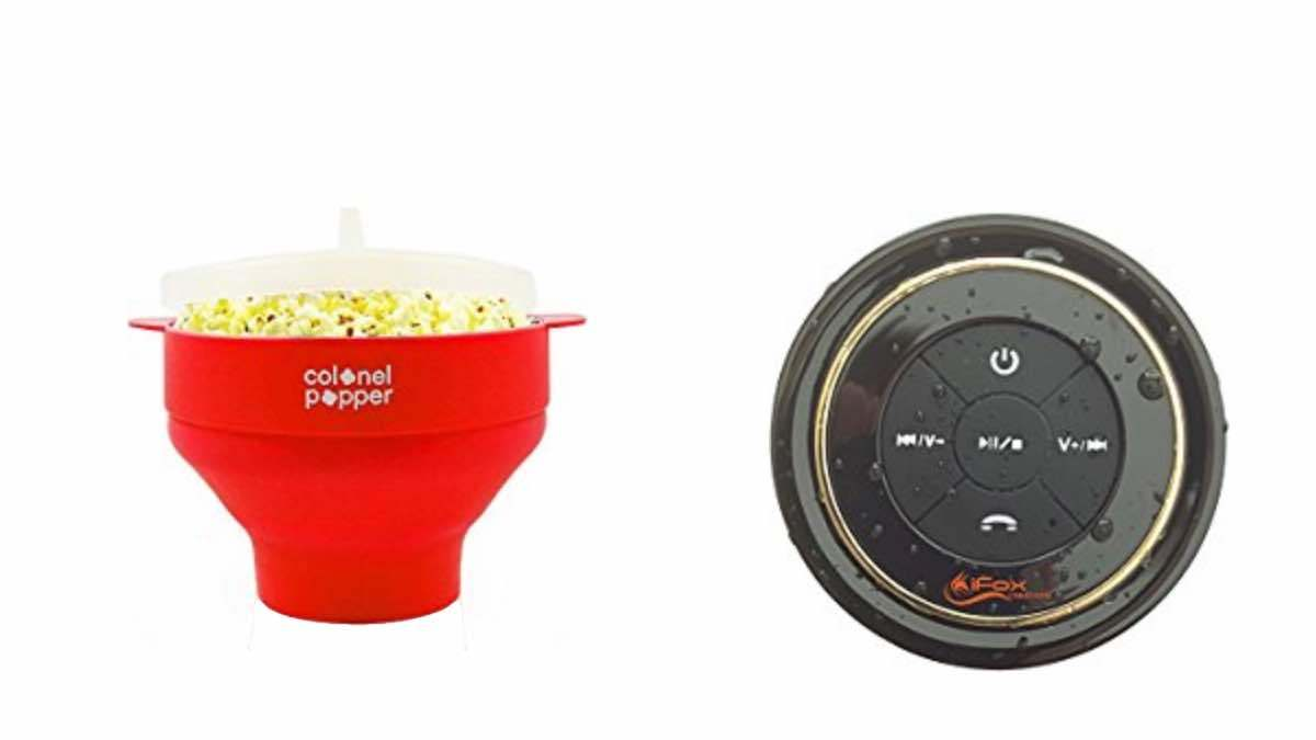 Geek Daily Deals 020618 microwave popcorn popper bluetooth shower speaker