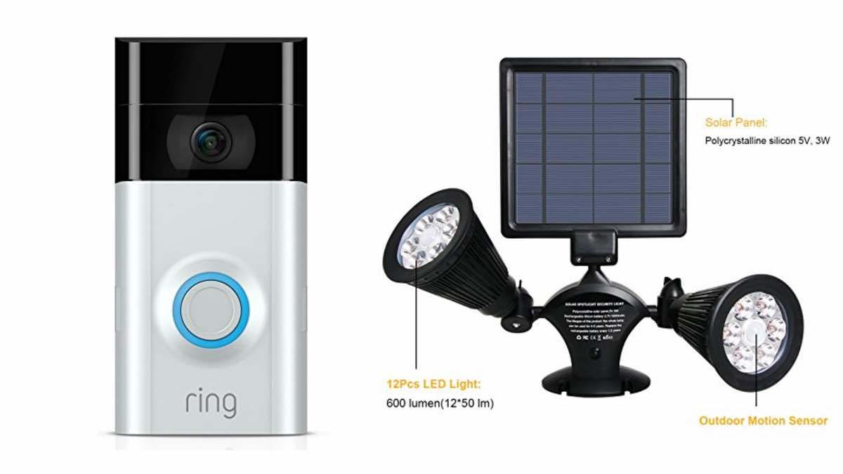 Geek Daily Deals 020718 ring doorbell solar security light