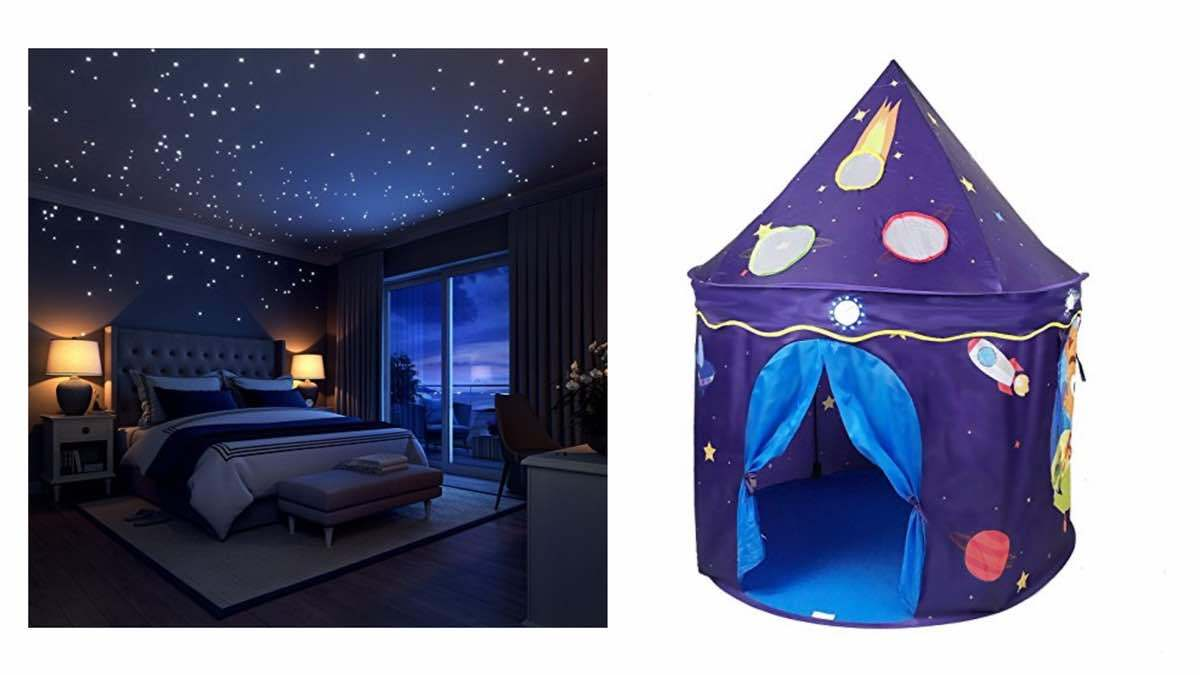 Geek Daily Deals 020818 star stickers space play tent
