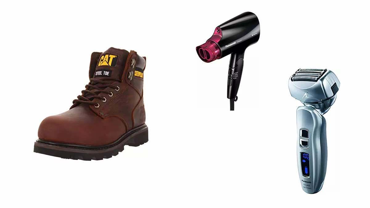 Geek Daily Deals 021918 safety boots panasonic dryer shaver