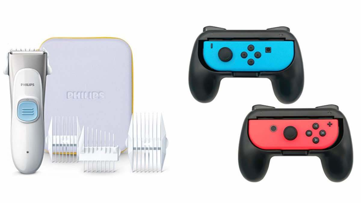 Geek Daily Deals 022018 kids hair trimmer nintendo switch grips