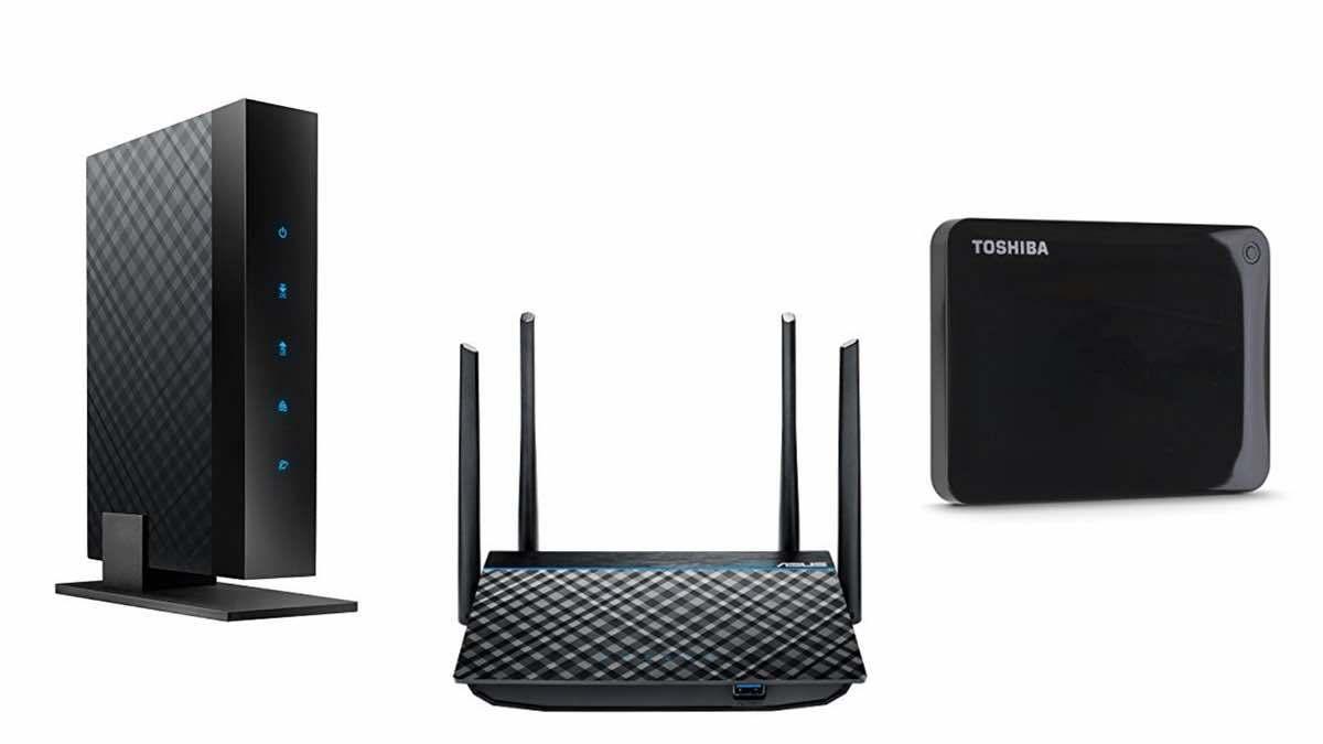 Geek Daily Deals 022318 cable modem wireless router external drive