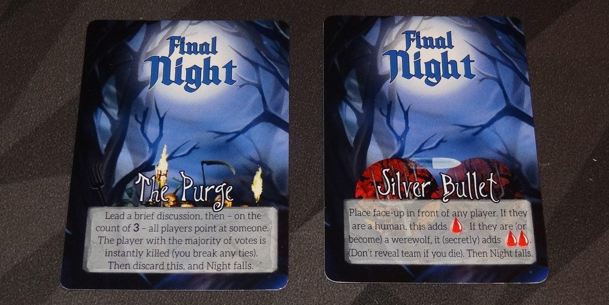 Growl Final Night cards