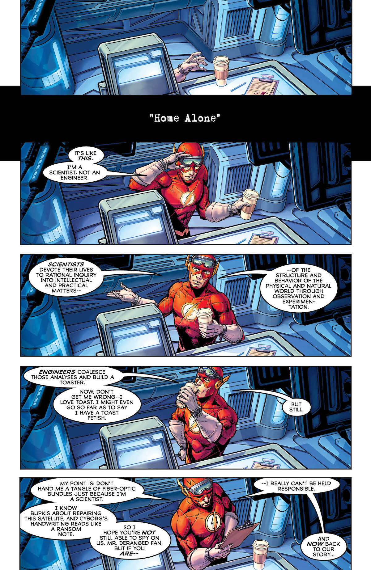 Justice League #38 page 1 The Flash