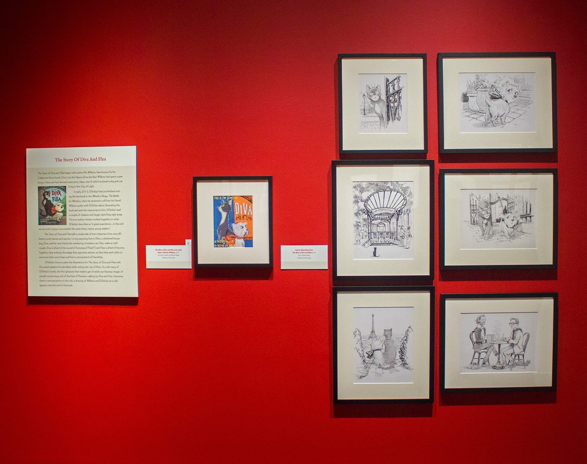 DiTerlizzi's Diva and Flea art at Norman Rockwell Museum