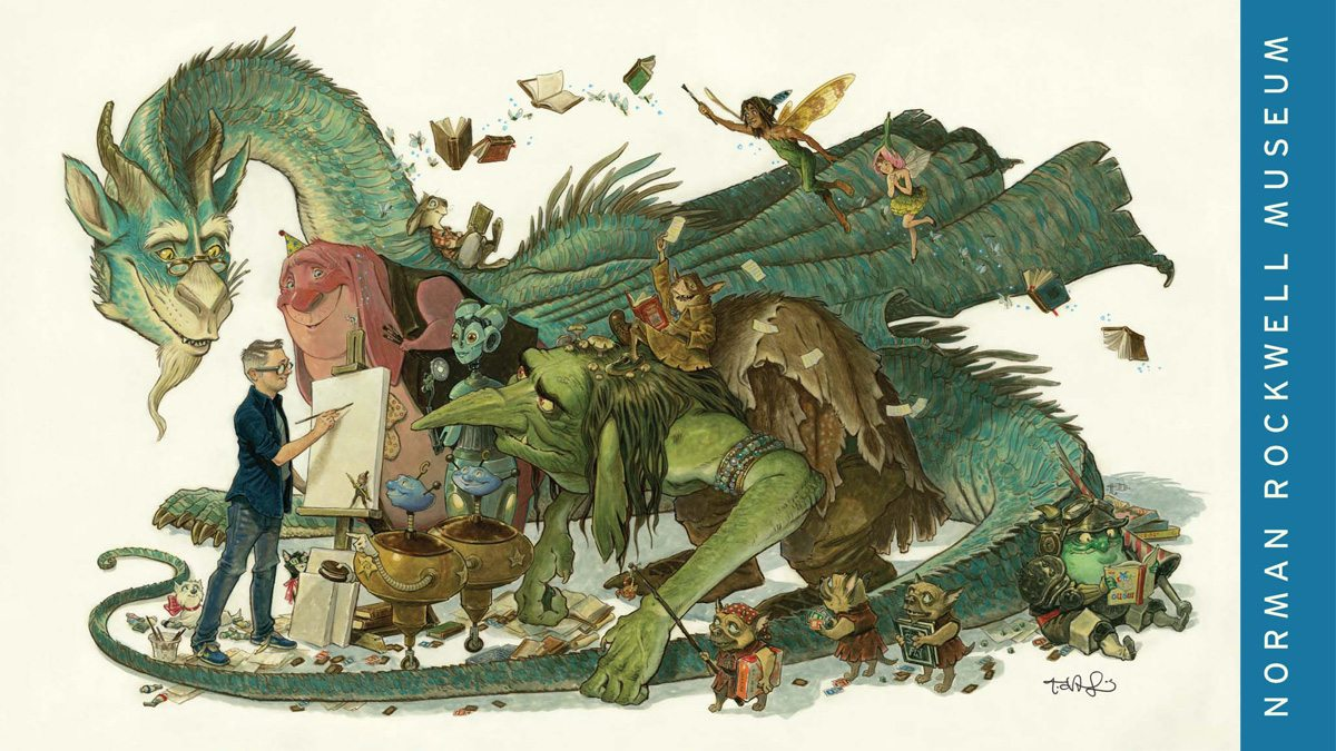 Tony DiTerlizzi poster for Norman Rockwell Museum