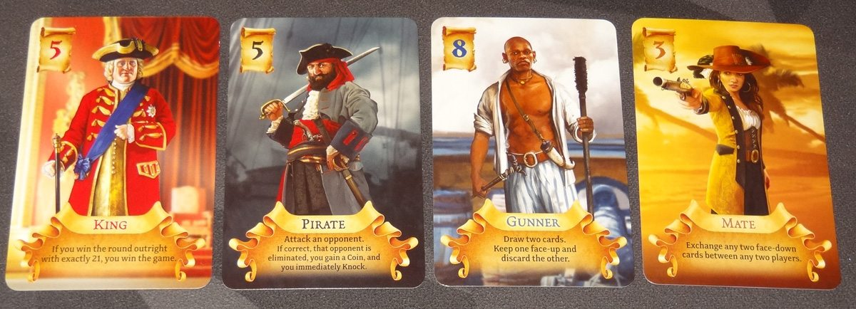 Pirate 21 hand of cards