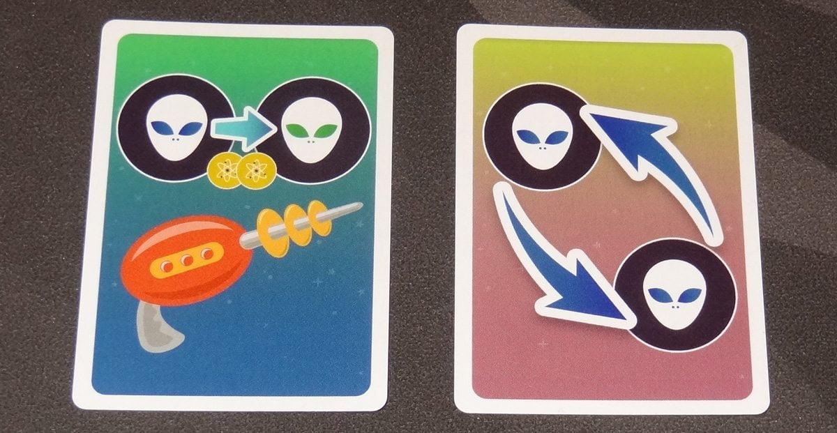 Planetopia ray gun and diagonal swap cards