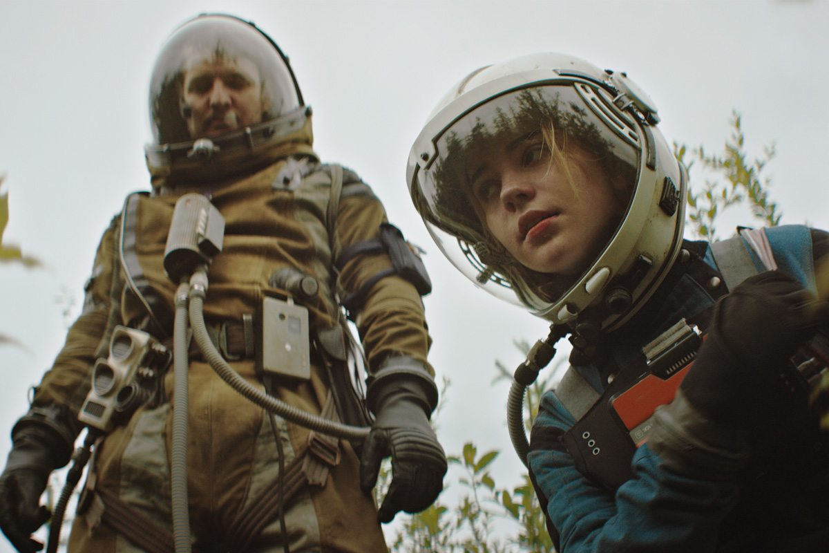 Pedro Pascal and Sophie Thatcher in 'Prospect.'