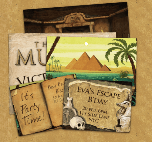 Lost Mummy Posters Invites